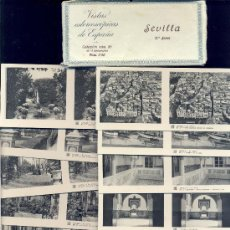 Fotografía antigua: VISTAS ESTEREOSCÓPICAS DE ESPAÑA • 15 VISTAS DE SEVILLA / COLECCIÓN Nº86. 2ª SERIE COMPLETA.RELLEV. . Lote 27138579