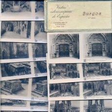 Fotografía antigua: VISTAS ESTEREOSCÓPICAS DE ESPAÑA • 15 VISTAS DE BURGOS / COLECCIÓN Nº16. 1ª SERIE COMPLETA. RELLEV. Lote 27138581