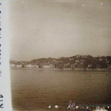 Alte Fotografie - Cristal Estereoscópico de Donosti San Sebastián 1931 Playa de la Concha desde el Acuario - 27487907