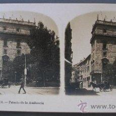 Fotografía antigua: FOTO ESTEREOSCOPICA -Nº12- VALENCIA - PALACIO DE LA AUDIENCIA (A.MARTIN EDITOR). Lote 27529608