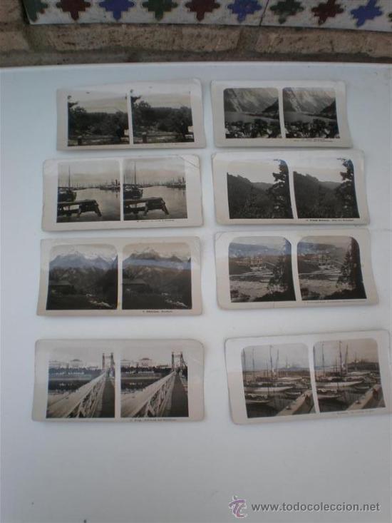 8 FOTOGRAFIAS ESTEROSCOPIASC (Fotografía Antigua - Estereoscópicas)