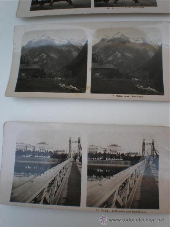 Fotografía antigua: 8 fotografias esteroscopiasc - Foto 2 - 20978523