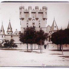 Fotografía antigua: SEGOVIA, EL ALCÁZAR, 1915'S. CRISTAL POSITIVO ESTEREO 6X13 CM.. Lote 21978716
