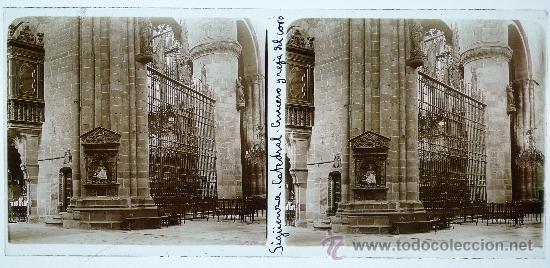 Fotografía antigua: SIGÜENZA, prov. de guadalajara, catedral, 1915s. Cristal positivo estereo 6x13 cm. FXP - Foto 2 - 22958469