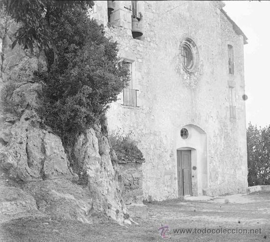 SANTUARIO DE QUERALT. PRECIOSA IMAGEN DEL SANTUARIO ANTES DE LA REMODELACIÓN. BERGA. CIRCA 1915 (Fotografía Antigua - Estereoscópicas)