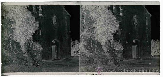 Fotografía antigua: Santuario de Queralt. Preciosa imagen del Santuario antes de la remodelación. Berga. Circa 1915 - Foto 3 - 23741829