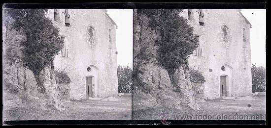 Fotografía antigua: Santuario de Queralt. Preciosa imagen del Santuario antes de la remodelación. Berga. Circa 1915 - Foto 2 - 23741829