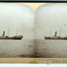 Fotografía antigua: EL BUQUE ESPAÑOL S.S. MIGUEL JOVER CAPTURADO. GUERRA DE CUBA 1898 ORIGINAL. Lote 24118763
