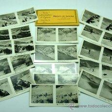 Fotografía antigua: 15 VISTAS ESTEREOSCÓPICAS PIRINEO GERONA NURIA LA MOLINA NEVADA 4ª SERIE Nº 124. Lote 24292471