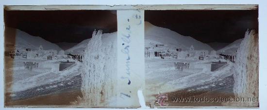 Fotografía antigua: España, pueblo por identificar, 1915s. cristal negativo estereo 10,4 x 4,3 cm. - Foto 2 - 24637548