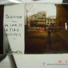 Fotografía antigua: 1 PUIGCERDA GIRONA PLAZA CABRINETY AÑO 1911 PRECIOSA CRISTAL ESTEREOSCOPICO MIRA OTROS SIMILARES. Lote 26246091