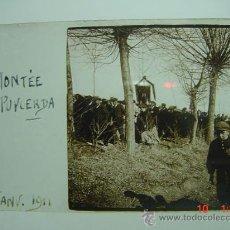 Fotografía antigua: 1 PUIGCERDA GIRONA PROCESION AÑO 1911 PRECIOSA CRISTAL ESTEREOSCOPICO MIRA OTROS SIMILARES. Lote 26246097