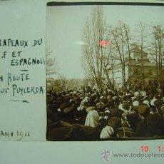 Fotografía antigua: 1 PUIGCERDA GIRONA MANIFESTACION AÑO 1911 PRECIOSA CRISTAL ESTEREOSCOPICO MIRA OTROS SIMILARES. Lote 26246099