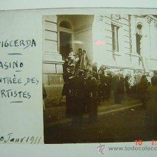 Fotografía antigua: 1 PUIGCERDA GIRONA CASINO AÑO 1911 PRECIOSA CRISTAL ESTEREOSCOPICO MIRA OTROS SIMILARES. Lote 26225158