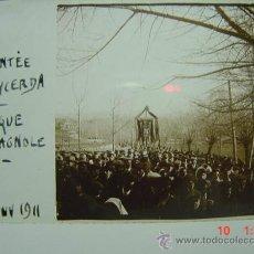 Fotografía antigua: 1 PUIGCERDA GIRONA LA BANDA ESPAÑOLA AÑO 1911 PRECIOSA CRISTAL ESTEREOSCOPICO MIRA OTROS SIMILARES. Lote 26225159