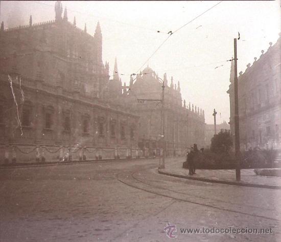 SEVILLA, 1915'S, CRISTAL NEGATIVO ESTEREO 10,4 X 4,3 CM (Fotografía Antigua - Estereoscópicas)