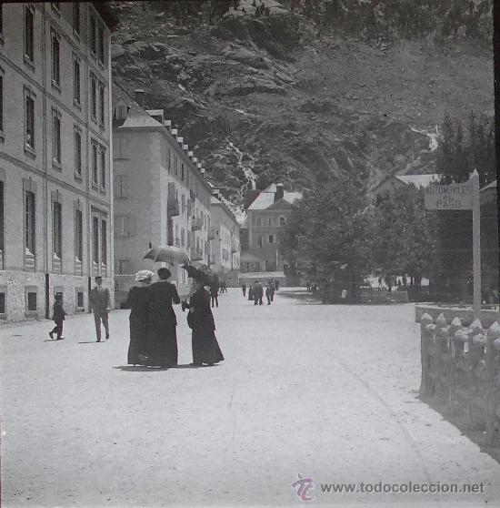 PANTICOSA, HUESCA, 1914. CRISTAL POSITIVO ESTEREO 10,4 X 4,3 CM. (Fotografía Antigua - Estereoscópicas)