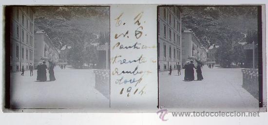 Fotografía antigua: PANTICOSA, HUESCA, 1914. Cristal positivo estereo 10,4 x 4,3 cm. - Foto 2 - 24798202