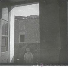 Fotografía antigua: VANDELLÓS, PROV. DE TARRAGONA. AÑO 1907, RETRATO DE MI HIJO PACO. CRISTAL POSITIVO ESTEREO 10,4X4,3 . Lote 24953639