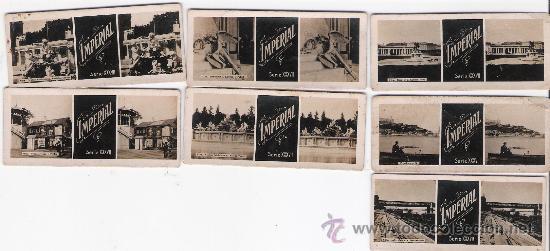 LOTE DE 7 FOTOS ESTEREOSCÓPICAS. PUBLICIDAD DE IMPERIAL. (Fotografía Antigua - Estereoscópicas)
