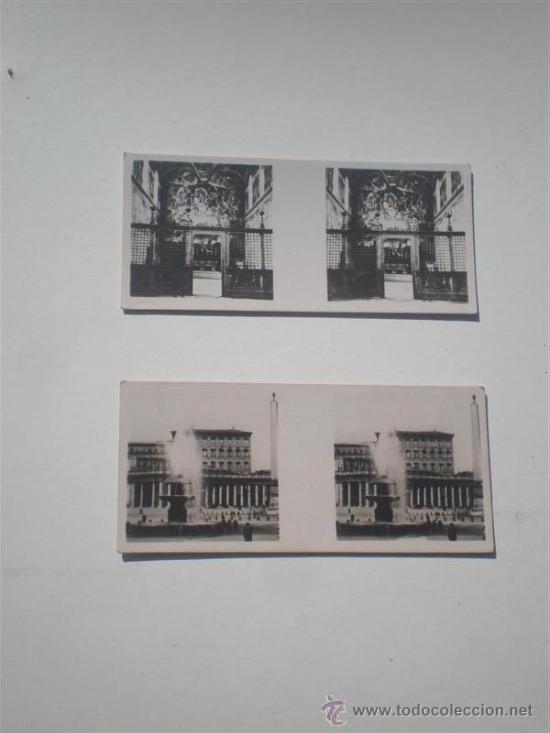 2 FOTOGRAFIAS ESTEROSCOPICA PEQUEÑAS TOLEDO (Fotografía Antigua - Estereoscópicas)