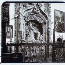 Fotografía antigua: BURGOS, CARTUJA DE MIRAFLORES, SEP. REY INFANTE ALONSO, 1915'S. CRISTAL POSITIVO ESTEREO 6X13 CM FXP. Lote 26974350