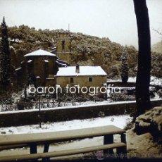 Fotografía antigua: LES PLANES (BARCELONA). NEVADA 18-12-1920. LOTE DE 9 CRISTALES ESTEREO POSITIVOS 6X13 CM.. Lote 28433215