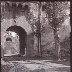 Fotografía antigua: POBLET, TARRAGONA, 1915'S CRISTAL NEGATIVO 10X15 CM. Lote 28954791
