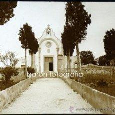 Fotografía antigua: MALLORCA, FELANITX, VISTA DEL CALVARIO, 1915. FOTO: SALVANY - NONELL. CRISTAL POSITIVO ESTEREO 6X13. Lote 29078448