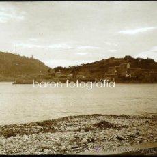 Fotografía antigua: MALLORCA, PUERTO DE SÓLLER,1915. FOTO: SALVANY- NONELL. CRISTAL POSITIVO ESTEREO 6X13 CM.. Lote 29078452