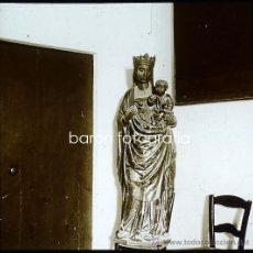 Fotografía antigua: MALLORCA, FELANITX. VIRGEN CON NIÑO. 1915. FOTO: SALVANY - NONELL. CRISTAL POSITIVO ESTEREO 6X13 CM.. Lote 29104829