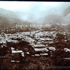 Fotografía antigua: MALLORCA, SÓLLER, VISTA DESDE LA PEÑA. 1915. FOTO: SALVANY-NONELL. CRISTAL POSITIVO ESTEREO 6X13 CM.. Lote 29104831