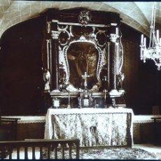 Fotografía antigua: RAXA, MALLORCA, 1915. CAPILLA STA. CATALINA, FOTO: SALVANY-NONELL. CRISTAL POSITIVO ESTEREO 6X13 CM. Lote 29191117