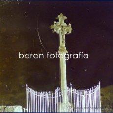 Fotografía antigua: SÓLLER, MALLORCA, 1915. CRUZ DE TÉRMINO. FOTO: SALVANY-NONELL. CRISTAL POSITIVO ESTEREO 6X13 CM.. Lote 29191210