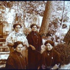 Fotografía antigua: MALLORCA, RAXA. MALLORQUINAS DE LA SOLEDAD, 1915. FOTO: SALVANY - NONELL. CRISTAL POSITIVO ESTEREO. Lote 29191494