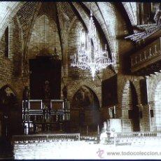 Fotografía antigua: ALCÚDIA, IGLESIA, MALLORCA, 1915. FOTO: SALVANY - NONELL. CRISTAL POSITIVO ESTEREO 6X13 CM.. Lote 29191602