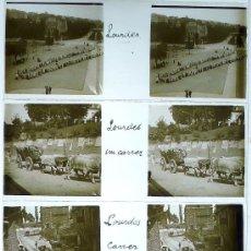 Fotografía antigua: LOURDES, FRANCIA, 1920'S. LOTE DE 9 CRISTALES POSITIVOS ESTEREO 10,5X4 CM.. Lote 29195279