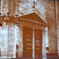 Fotografía antigua: PALMA DE MALLORCA, INTERIOR CATEDRAL, 1915. FOTO: SALVANY-NONELL. CRISTAL POSITIVO ESTEREO 6X13 CM.. Lote 29197863