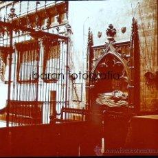 Fotografía antigua: PALMA DE MALLORCA, TUMBA CATEDRAL, 1915. FOTO: SALVANY-NONELL. CRISTAL POSITIVO ESTEREO 6X13 CM.. Lote 29198742