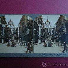 Fotografía antigua: VISTA ESTEREOSCOPICA. PUERTA DEL SOL. MADRID 1907. Lote 29376898