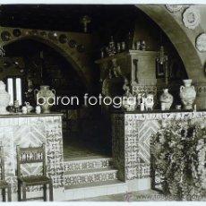 Fotografía antigua: SITGES, MUSEO DEL CAU FERRAT, 1915'S. CRISTAL POSITIVO ESTEREO 6X13 CM.. Lote 29383052