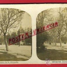 Fotografía antigua: FOTOGRAFIA ESTEREOSCOPICA, FOTO, VALENCIA , PASEO DE LA ALAMEDA , ORIGINAL ,S74. Lote 29590583