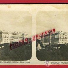 Fotografía antigua: FOTOGRAFIA ESTEREOSCOPICA, FOTO, MADRID, PALACIO REAL , VISTA GENERAL, ORIGINAL ,S212. Lote 29611510
