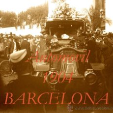 Fotografía antigua: AUTOMOVIL - BARCELONA - 1904 - ALFONSO XIII - NEGATIVO DE CRISTAL . Lote 30401964