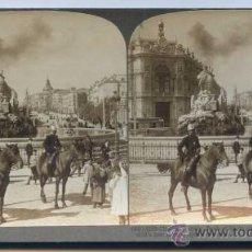 Old photograph - Madrid. Cibeles. Fotografía estereoscópica editada por la casa americana Underwood. Circa 1900 - 30551273