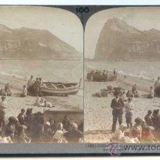 Old photograph - Gibraltar, Cádiz. Fotografía estereoscópica editada por la casa americana Underwood. Circa 1900 - 30551374