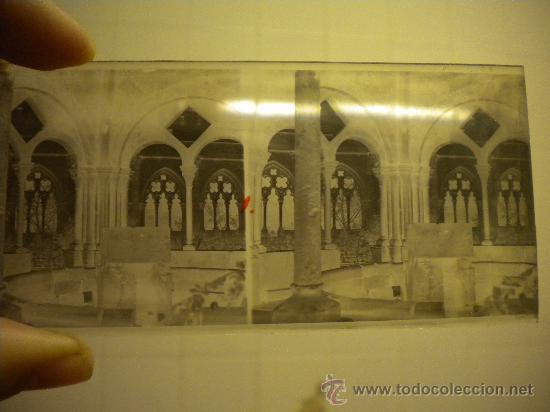 LOTE DE 12 CRISTALES DEL MONASTERIO DE POBLET (TARRAGONA) 6X 13M. 1912. (Fotografía Antigua - Estereoscópicas)