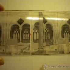Fotografía antigua: LOTE DE 12 CRISTALES DEL MONASTERIO DE POBLET (TARRAGONA) 6X 13M. 1912.. Lote 30878308