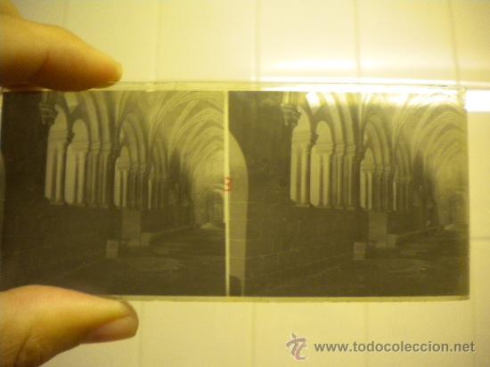 Fotografía antigua: Lote de 12 cristales del Monasterio de Poblet (Tarragona) 6x 13m. 1912. - Foto 2 - 30878308
