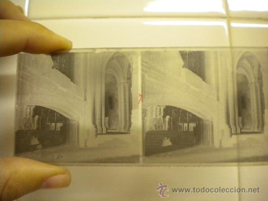 Fotografía antigua: Lote de 12 cristales del Monasterio de Poblet (Tarragona) 6x 13m. 1912. - Foto 5 - 30878308